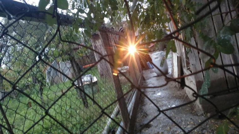 B. Endre áramot vezetett a kerítésébe, így érezte magát otthon biztonságban.