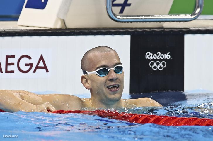 51:52-t úszott Cseh a 4. előfutamban Amit meg is nyert, úgyhogy eddig övé a legjobb idő. Van még két futam.