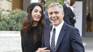 Júniusban születnek a George és Amal Clooney ikrei