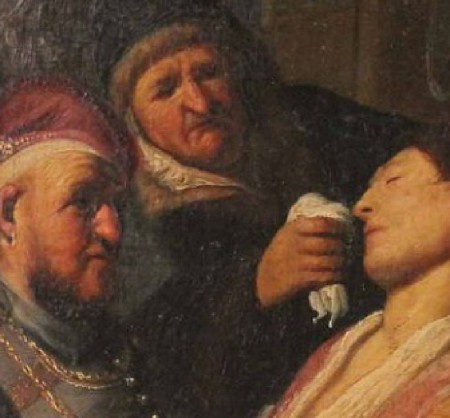 Rembrandt: Az elájult beteg - Szaglás