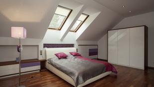 Egy padlásszoba lehet nagyon is kényelmes!