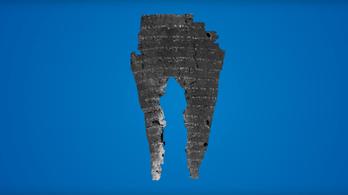 Digitálisan kihajtogattak egy szénné égett ősi tekercset