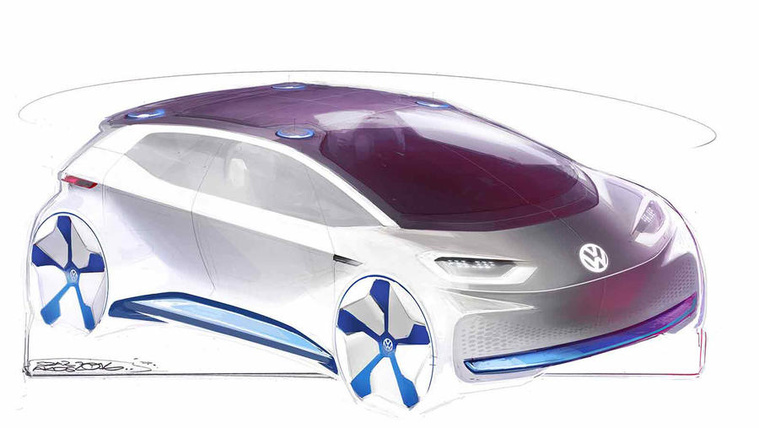 Vázlatokon a jövő Volkswagenje