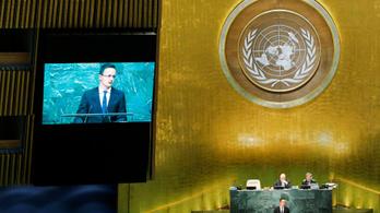 Keresztényvédőként lépett fel Szijjártó az ENSZ-ben