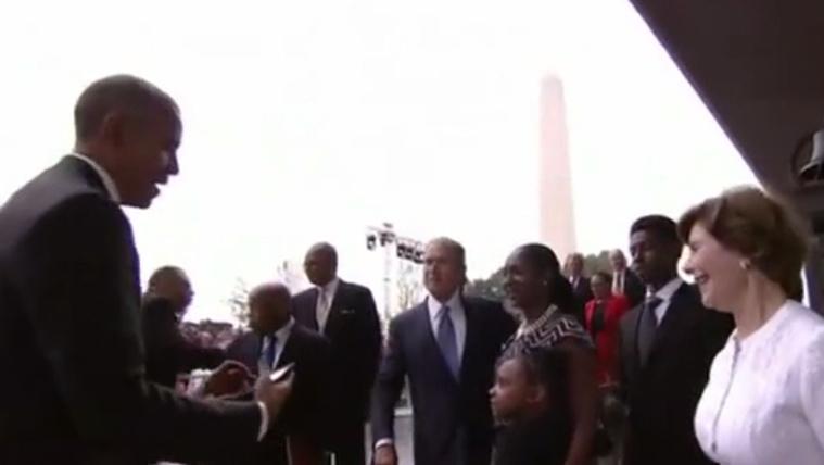 Hé, Obama, nyomj már egy képet rólunk!