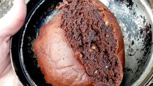 Kakaós süti szabad tűzön az erdőben?