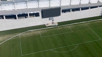 betonfal az új mtk-stadionban
