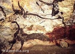 Őstulokábrázolás a franciaországi Lascaux-barlangban