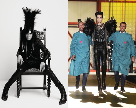 Bill Kaulitz a Vogue-ban és a Dsquared bemutatóján