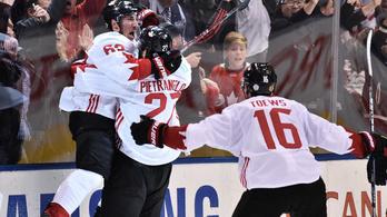 Utolsó perces góllal nyerte Kanada a világkupát