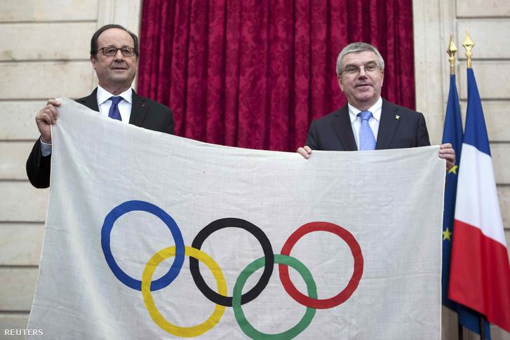 Francois Hollande és Thomas Bach