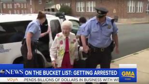102 évesen végre teljesült a néni álma: letartóztatták