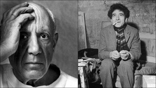 Pablo Picasso és Alberto Giacometti