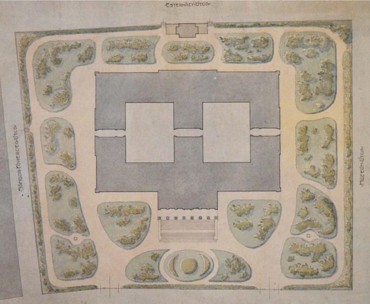 A Nemzeti Múzeum térrajza, 1907