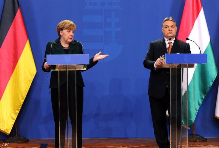 Angela Merkel és Orbán Viktor