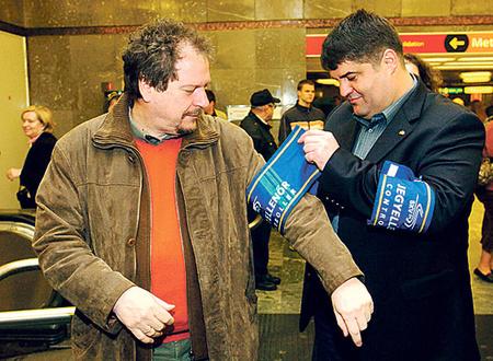 Mosolygó ellenőrök: Antal Attila és Hagyó Miklós (fotó: MTI)