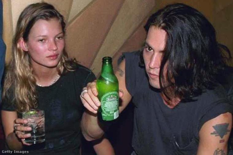 Kate Moss és Johnny Depp még kapcsolatuk elején