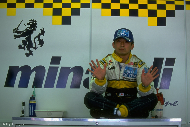 Ukyo Katayama F1-karrierje idején, itt épp a Minardinál