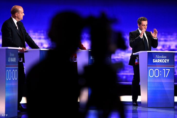 Alain Juppe és Nicolas Sarkozy