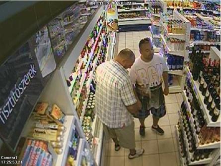 A budaörsi bortolvajok a kamerafelvétel szerint.