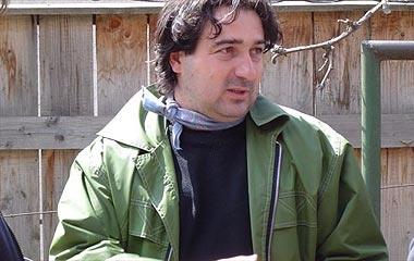 Kovács Bence a Rom-Mánia című film forgatásán, 2003-ban