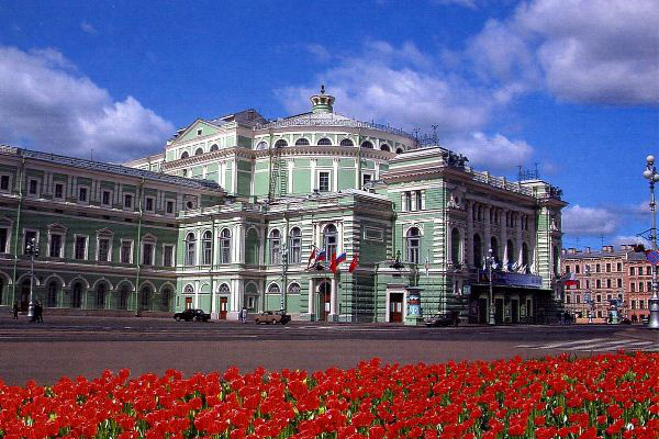 A szentpétervári Mariinszkij Színház épülete