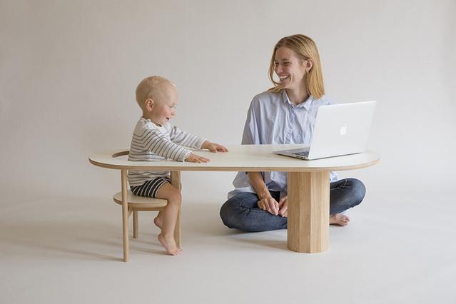 Kunsik Choi tervezése működhet gyerekasztalként.