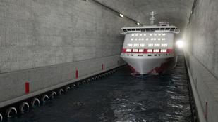 Látványos  hajóalagút épülhet Norvégiában