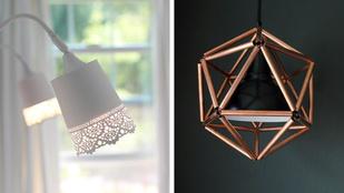 Így hekkelhet Ikeás lámpákból dizájndarabokat!