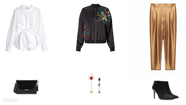 Blúz - 8990 Ft (H&M), kabát - 10990 Ft (F&F), nadrág - 9995 Ft (Zara) , táska - 8995 Ft (Parfois), fülbevaló - 2795 Ft (Mango), bokacsizma - 9995 Ft (Stradivarius)
