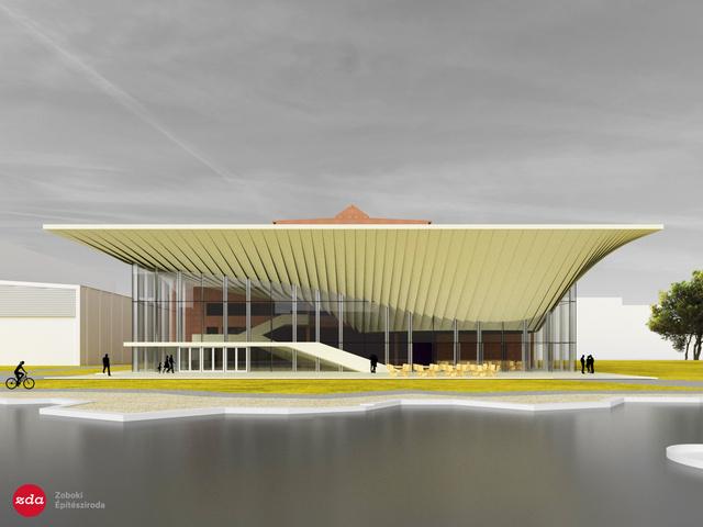 A Nemzeti Táncszínház új épületének külső terve