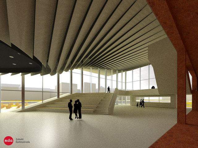 A Nemzeti Táncszínház előterének belső terve