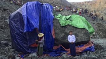 Óriási jádekövet találtak Mianmarban
