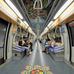 Díszbe öltöztették a metróállomást