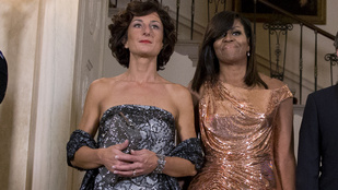 Elég jól nézett ki Michelle Obama az utolsó hivatalos vacsoráján
