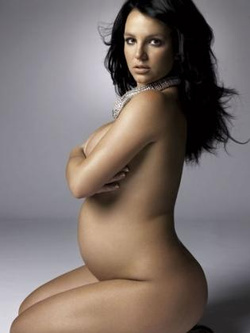 medium pregnant britney spears