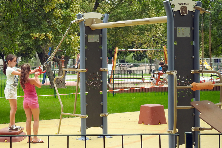 Egy összetett eszköz a közelmúltban felújított újpesti Semsey parkban