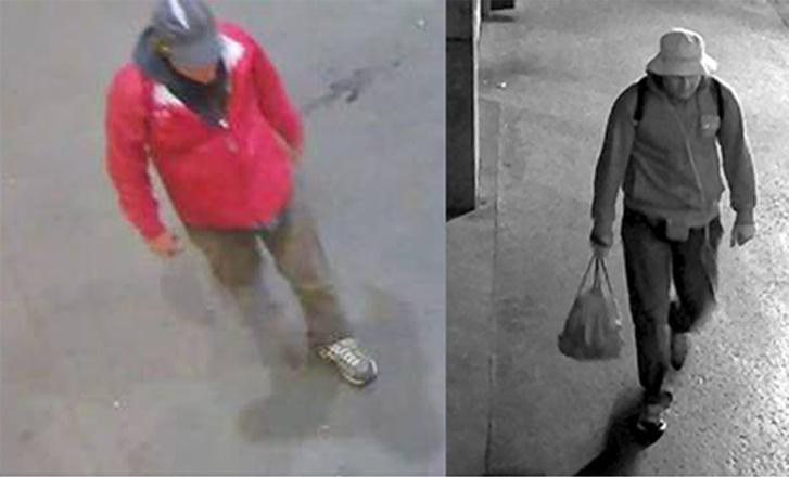 Mindkét képen a Teréz körúti robbantó látható a merénylethez használt szerelésében.