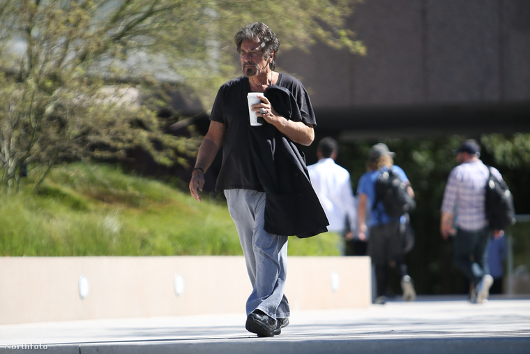 Az Oscar-díjas színészről Beverly Hillsben készült egy olyan fotósorozat, amin szegény tényleg úgy néz ki, mint egy kómás hajléktalan...