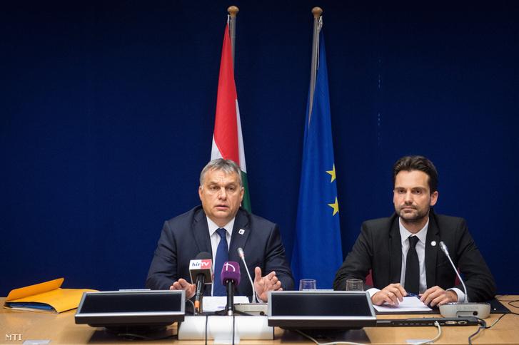 Orbán Viktor a brüsszeli sajtótájékoztatón