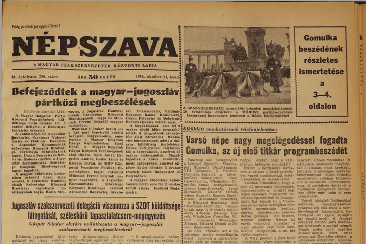 Nepszava 1956 10  pages120-120