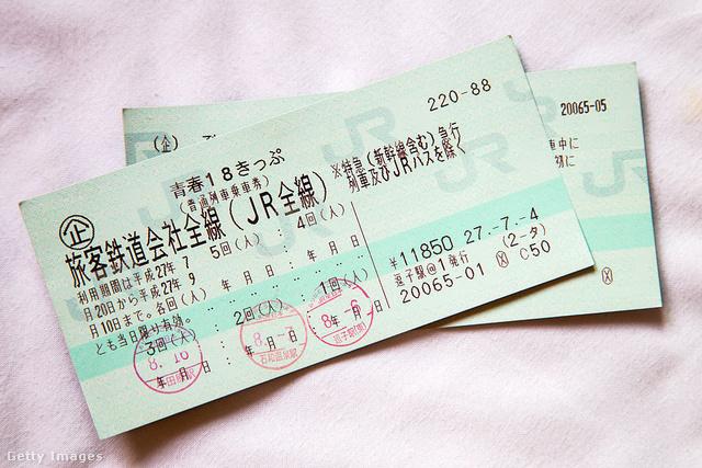 A Seishun 18 jeggyel öt napig korlátlan mennyiségben vonatozhatnak (de a bérlet más eszközre is érvényes)