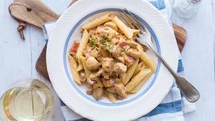 Hétköznapi gyors: gombás-húsos tészta