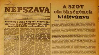 56 anno: Este a tömeg ledöntötte a Sztálin szobrot!