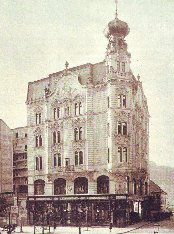 1899k Zsolnay-mintabolt Fb Bp Regi kepeken