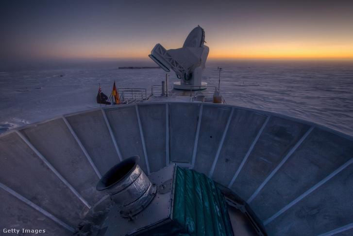 Az Amundsen-Scott állomás.
