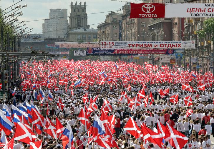 Moszkvai Nashi demonstráció 2005-ben