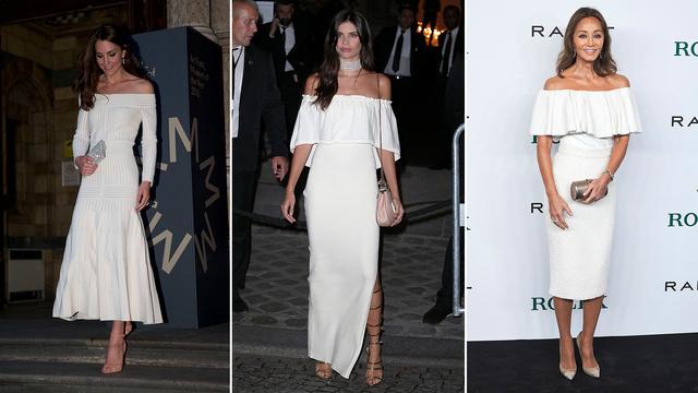 Kinek áll jobban a fehér vállvillantós ruha