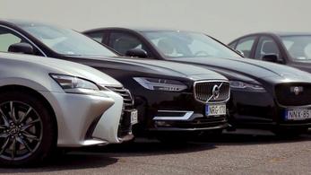 Egy BMW a Jaguar, a Volvo és a Lexus ellen