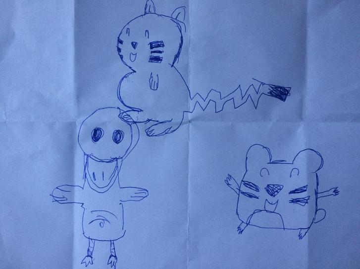 Lujzi az interjú alatt is rajzolgatott